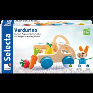 Verdurino, Obst und Gemüsewagen, Nachzieh- und Sortierspielzeug
